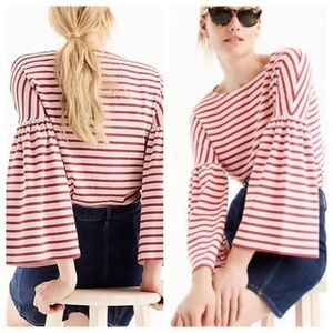 JCrew Striped Bell Sleeve knit Top